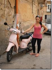 Pink bike, Trapani, Sicily, Italy