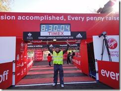 Construction crew, Virgin London Marathon, England